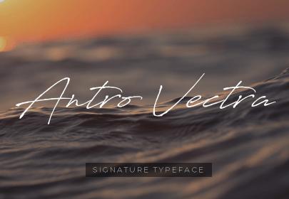antro vectra free hand drawn font