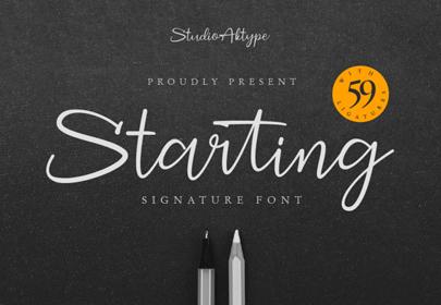 starting free hand drawn font