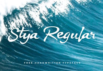 stya free hand drawn font