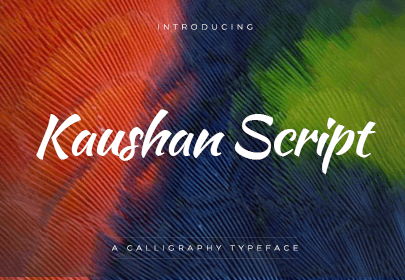kaushan free hand drawn font
