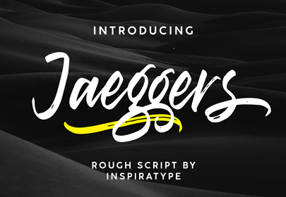 jaeggers free hand drawn font