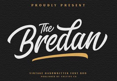 the brendan free hand drawn font