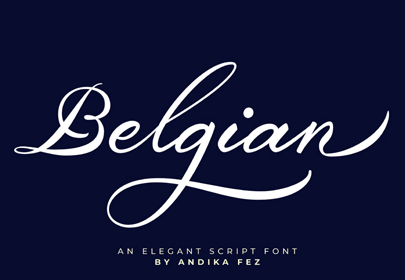 fuente dibujada a mano libre firma belga