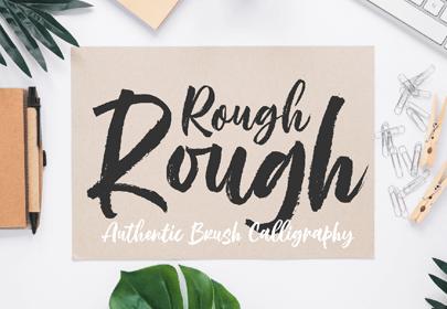 rough rough free hand drawn font