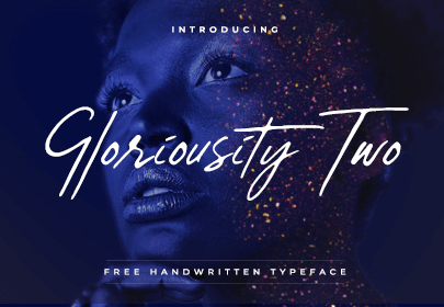 gloriousity two free hand drawn font
