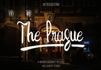 the prague free hand drawn font