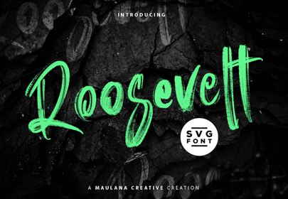 roosevelt free hand drawn font