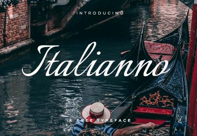 italianno free hand drawn font