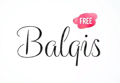 balqis free hand drawn font