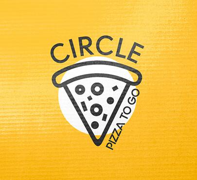 Branding for pizza logo CIRCLE