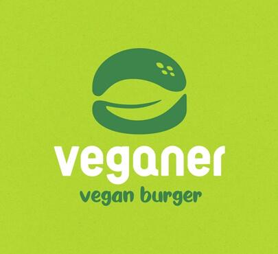 Veganer burgers logo design