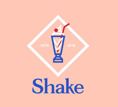Shake logo design