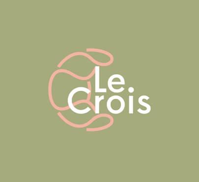 Le Crois croissant logo design