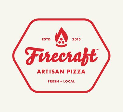 Firecraft Artisan Pizza logo design