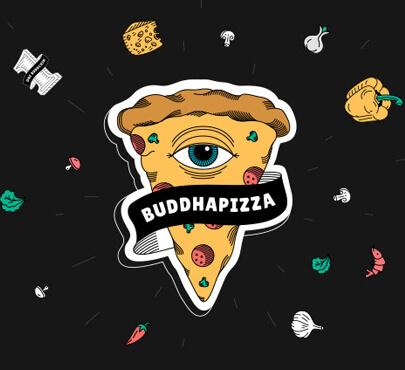 Buddha Pizza logo design