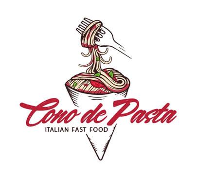 Cono de Pasta Logo Design