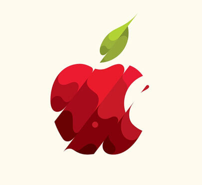 flat apple logo