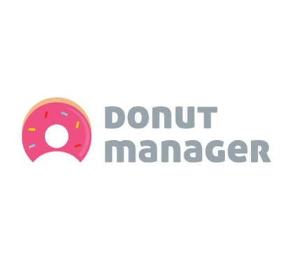 100 Daily Smart Logo Donut