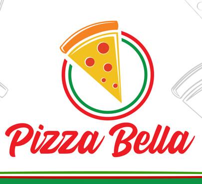 Pizza Bella Logo Menu Designs