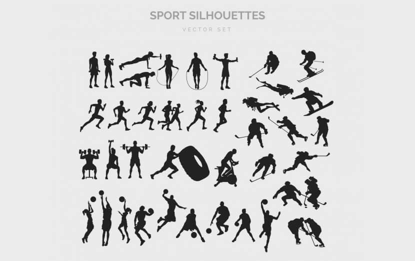 Free Sport Silhouettes Set