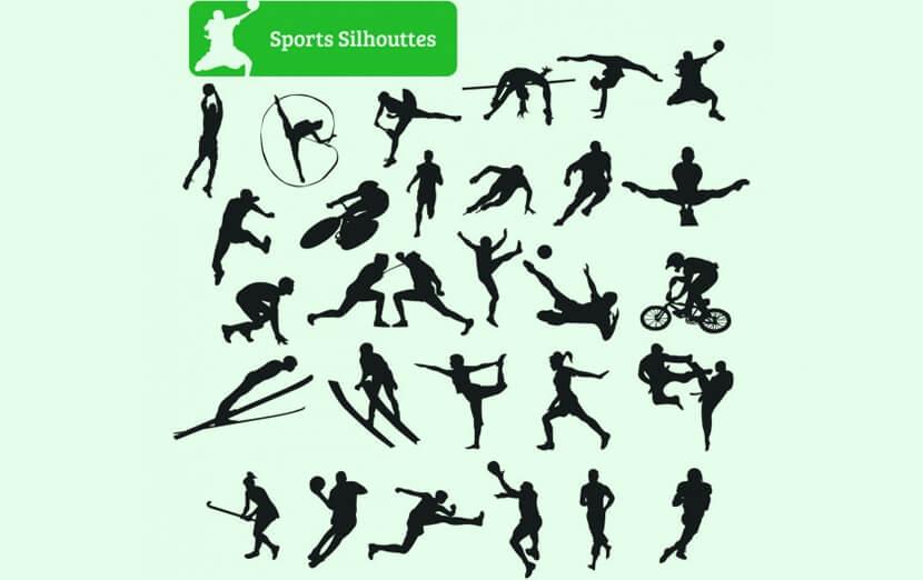 Free Sportsmen Silhouettes Set