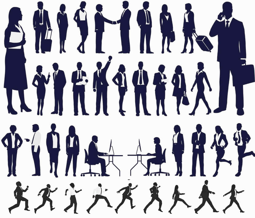 Free Corporate Silhouettes Set