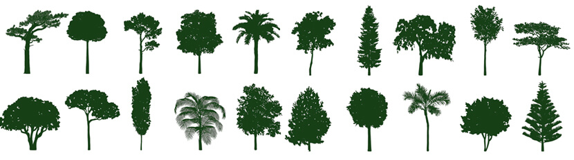 Free Tree Silhouettes Set