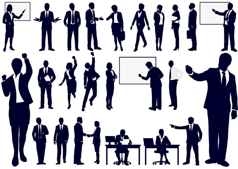 Free Working People Silhouettes Set