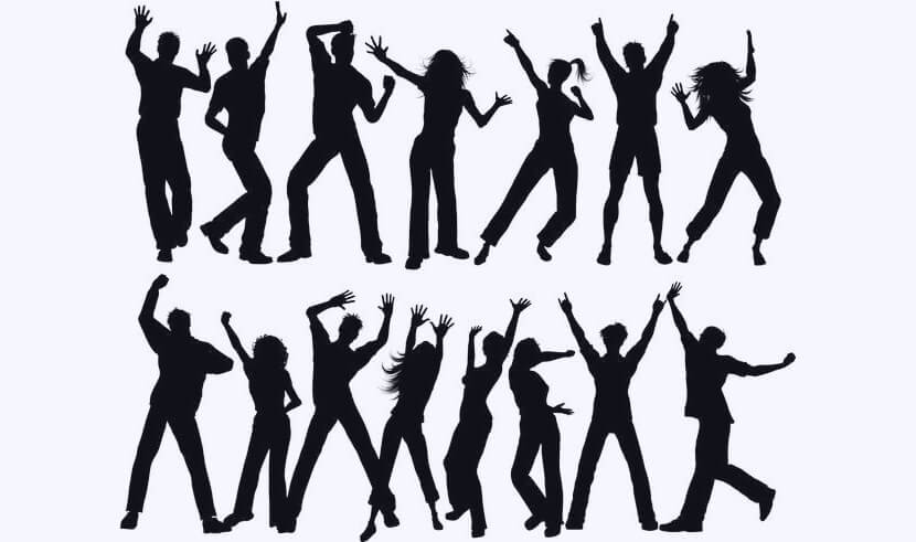 Free Party People Silhouettes Set