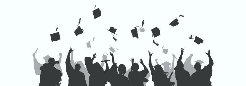 Free University Graduates Silhouettes Set