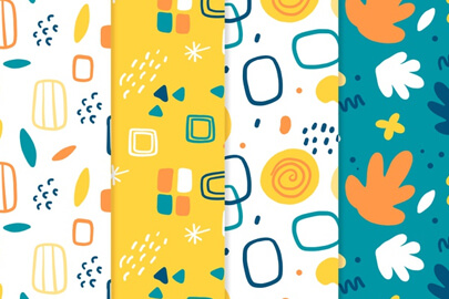 free hand drawn abstract pattern collection