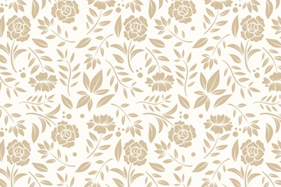 vintage ornamental pattern background with flowers