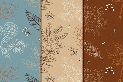 vintage autumn pattern collection