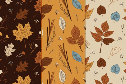 free vintage autumn pattern collection
