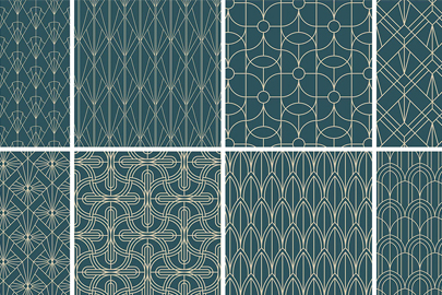 Free Download Art Deco Geometric Patterns