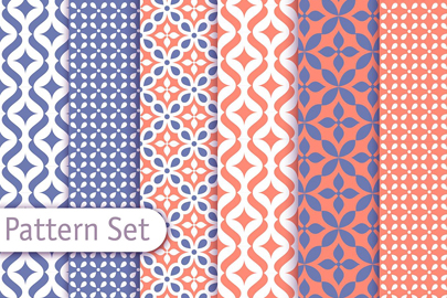 free colorful arabic pattern set