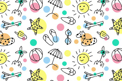 summer pattern design colorful