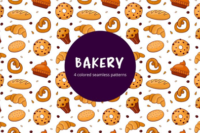 bakery vector free seamless pattern