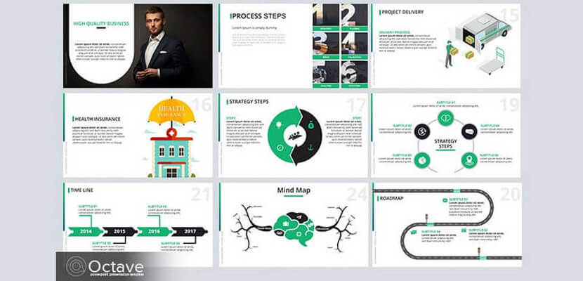 free infographic powerpoint template by bypeople