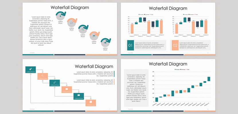 Waterfall Diagram Free Infographic Powerpoint Template