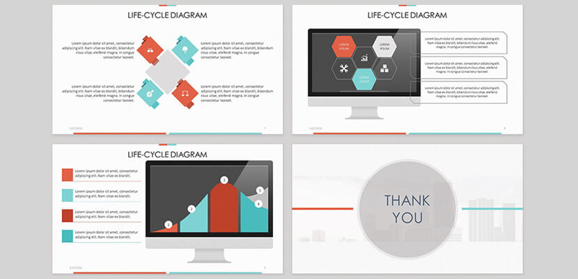 Life Cycle Diagram Free Infographic Template for PowerPoint