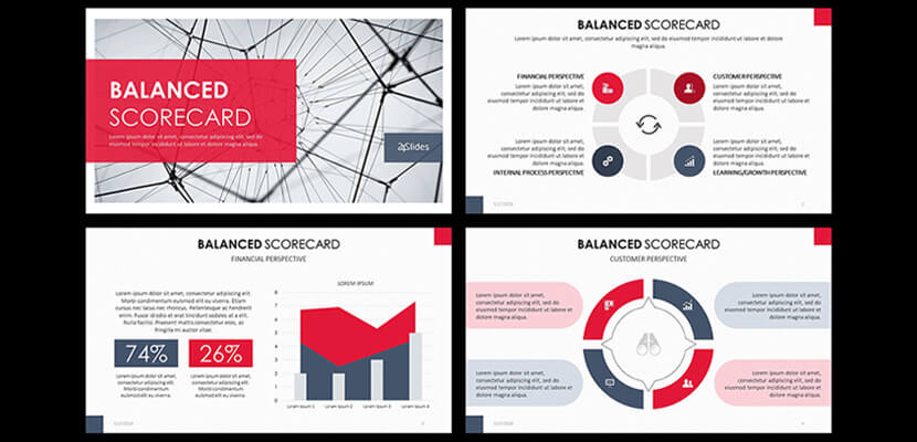 Balanced Scorecard Free Powerpoint Infographic Template