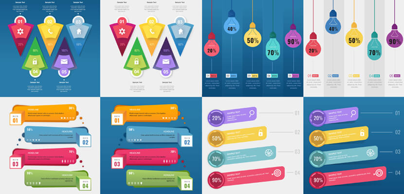8 free vector infographic templates for Adobe Illustrator