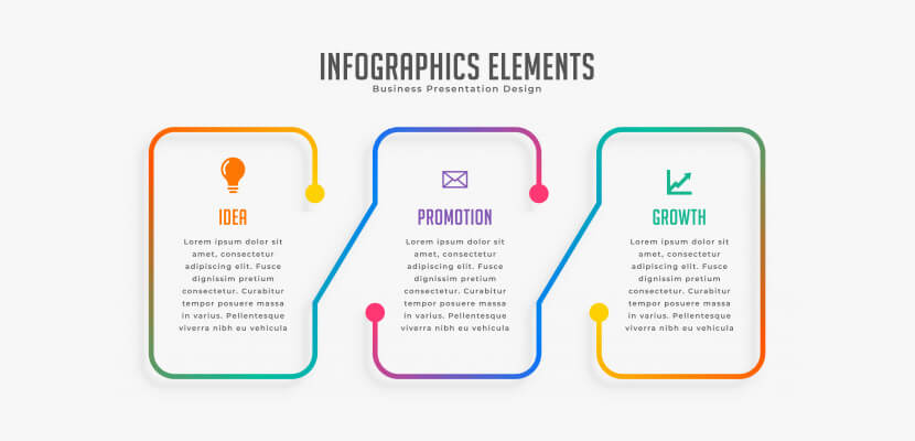 three steps modern free infographic template by Freepik