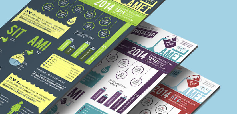 free infographics template water theme