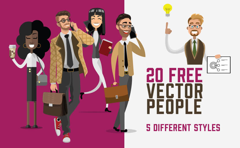 20 Free Vector People Illustrations