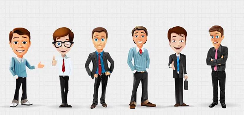 businessman vector character illustrations set