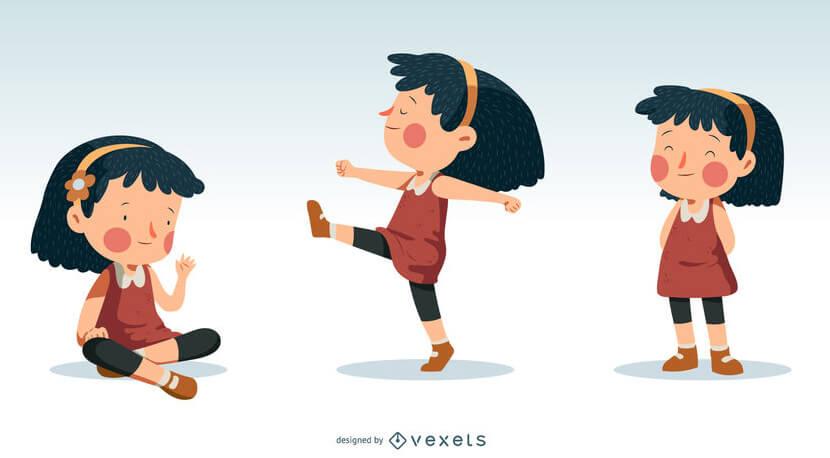 little girl illustration design