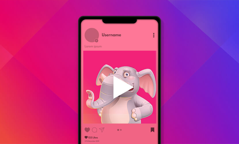 animation or video Instagram