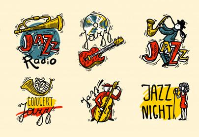 free jazz labels set